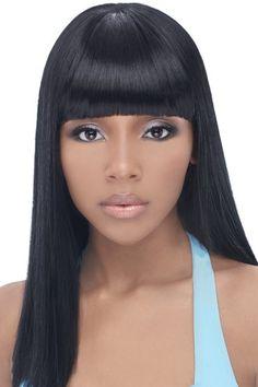 Black Hairstyles Ponytails Weave | black weave hairstyles curly black weave hairstyles with swept bangs