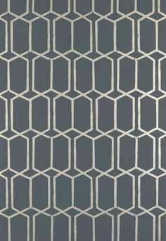 Schumacher Modern Trellis Wallpaper. Wallpaper Crush.  The Creativity Exchange