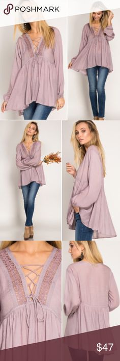 "New Arrival"" Lilac Spirit Long Sleeves Top New Arrival  Retail NWT Lilac Spirit Top Self: 70% Cotton, 30% Polyester  Contrast: 100% Polyester   Measurements Small - Chest:17"" across / 34"" around, Length:28"", Sleeve Length:22"" Medium - Chest:18"" across / 36"" around, Length:28"", Sleeve Length:22"" Large - Chest:19"" across / 38"" around, Length:28"", Sleeve Length:22""   Bundles = 10% off & FREE Gift ❌ No Trades ❌ Low Ball Offers Blackberry Boutique Tops Tees - Long Sleeve"