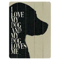 I Love My Dog Wall Decor III - Personalized Pets on Joss & Main