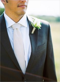simple white rose boutonniere #groom #boutonniere #weddingchicks http://www.weddingchicks.com/2014/02/10/cant-rush-love-wedding/
