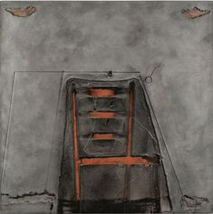 blastedheath: Antoni Tàpies (Catalan-Spanish, 1923-2012), Impresión de silla, 1980. Mixed media on board, 130 x 130 cm.