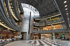 Stary Browar Shopping Center Poznan Poland. Converted from the former Brewery Huggerow, it is now home to more than 200 shops and restaurants.