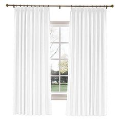 ChadMade Extra Long Curtains W x L Polyester Linen Drapes with Blackout Thermal Lining Pinch Pleat Curtain for Sliding Door Patio Door Living Room Bedroom, Panel) Snow White Extra Wide Curtains, Large Curtains, Pinch Pleat Curtains, Pleated Curtains, Custom Curtains, Linen Curtains, Blackout Curtains, Sliding Door Curtains, Patio Door Curtains