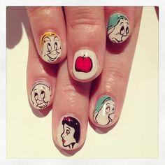 snow white nails #princess #disney