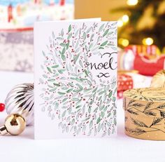 Easy Christmas Watercolour Illustrations with uni-PIN