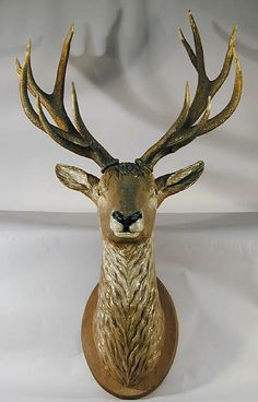 buy antique deer heads, stag heads and other trophys direct from the south of germany. in our gallery you'll find a selection a fine rustic and black forest antiques. Deer Heads, Stag Head, Rustic Cabin Decor, Western Decor, Twig Furniture, Living Room Redo, Animal Heads, Log Cabins, Black Forest