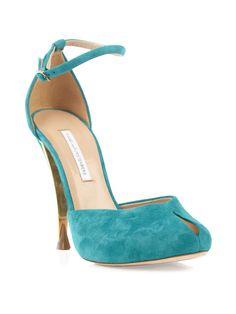 Diane Von Furstenberg Lucette Shoes in Blue (turquoise)