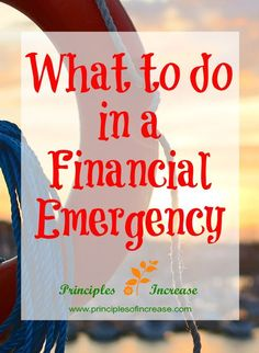 Do you know what to do in a financial emergency? Check out how you can avoid debt and come out on top in hard times.