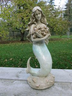 Mermaid Statue, Concrete Mermaid Statues, Statues Cast In Cement, Garden  Decor, Yard Art, Mermaid Figure, Little Mermaid, Fish Tail, By WestWindHomu2026