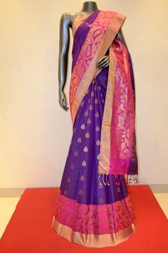 Purple Pure Soft Silk Saree With Designer Zari Border product Code;AB211834 Online Shopping: http://www.janardhanasilk.com/index.php?route=product/isearch&search=AB211834&description=true