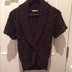 Badgley Mischka, brown sweater Xsmall Excellent condition, hardly worn size Xsmall sweater by designer Badgley Mischka. Badgley Mischka Sweaters Cowl & Turtlenecks