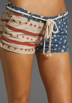 MAISON SCOTCH American Flag Shorts in Red/Blue at Revolve Clothing