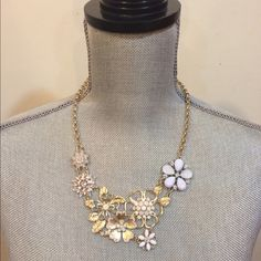 Lavender Blue Statement Necklace With shimmering lavender and sky blue flower crystals and a polished gold chain, this statement necklace instantly upgrades any outfit! Jewelry Necklaces
