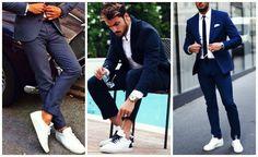3 Tips για να φορέσεις ένα κοστούμι με sneakers!