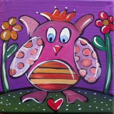 Kinderzimmerbild - Eule von Maren Schmidt auf DaWanda.com