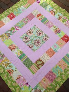 Baby Girl Crib Quilt by babyburritoquilts on Etsy, $135.00