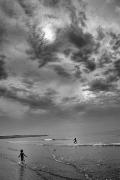 Bain sur la plage de Wissant