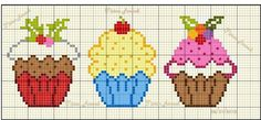 Birthday cupcake cross stitch.