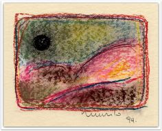 Lua Negra, 1994. Pastel seco.