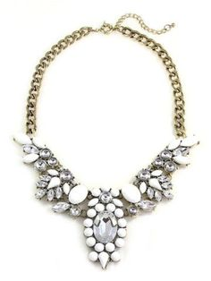 Anastasia Floral Bib Necklace
