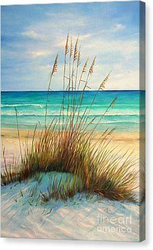 Siesta Key Beach Dunes Painting by Gabriela Valencia - Siesta Key Beach Dunes Fine Art Prints and Posters for Sale (Fairy Bottle Rocket) Pictures To Paint, Art Pictures, Ocean Scenes, Seascape Paintings, Beach Canvas Paintings, Beach Artwork, Painting Inspiration, Painting & Drawing, Painting Lessons