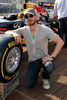 Michael Fassbender at the Monaco Formula One Grand Prix on May 26, 2012 in Monte Carlo