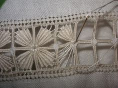 reticello antico  ~~My Grandma used to do this...she made beautiful linens.