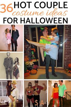 of the hottest couple Halloween costumes to try this year. 36 creatIve and affordable college couple Halloween costumes. of the hottest couple Halloween costumes to try this year. 36 creatIve and affordable college couple Halloween costumes. Creative College Halloween Costumes, Unique Couple Halloween Costumes, Halloween Costumes For Girls, Halloween Ideas, Halloween Photos, Family Halloween, Halloween 2018, Vintage Halloween, Colonel Sanders