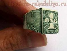 Video master class on origami dollar ring.  I used to know how to do that.