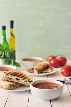 Caprese Panini and Roasted Tomato Soup | The Candid Appetite