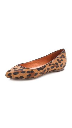 Leopard Flats, cap toe ones are also cute. Preferably not calf hair?