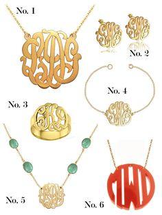 Unique! monogram jewelry