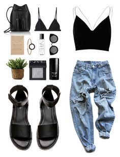 """""""Weekend Buzzz ."""" by aleeexxxx ❤ liked on Polyvore featuring NARS Cosmetics, H&M, River Island, Levi's, Tom Ford, Blackbird Letterpress, Kismet, Quay and T By Alexander Wang"""