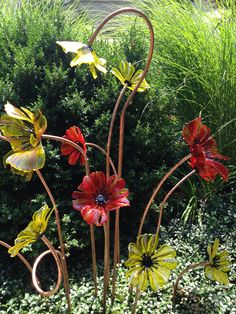 Glass Flowers, by Craig Mitchell Smith (In the artist's garden)