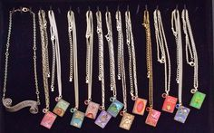 My favorite tray of necklaces that we're bringing to MegaCon…