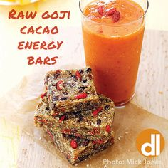 Need an extra boost to help get you through the end of the week? Try making these easy raw bars, with just 6 ingredients: almonds, dates, goji berries, cacao nibs, sea salt, and cinnamon. http://deliciousliving.com/recipes/raw-goji-cacao-energy-bars
