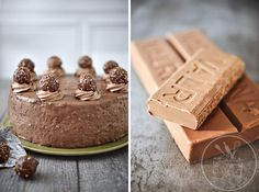 Gâteau Ferrero - Amuses bouche Homemade Cakes, How To Make Cake, Mousse, Frosting, Biscuits, Nutrition, Cheese, Healthy, Table