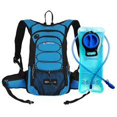 Miracol Hydration Backpack with 2L Water Bladder - Thermal Insulation Pack Keeps Liquid Cool up to 4 Hours – Multiple Storage Compartment– Best Outdoor Gear for Running, Hiking, Cycling and More >>> Tried it! Love it! Click the image. : Hiking gear