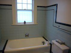 Retro Tile Bathroom 1940s bathrooms | black and blue retro/ vintage tile bathroom from