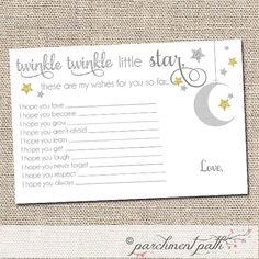 Twinkle Twinkle Little Star Shower Keepsake Baby by parchmentpath