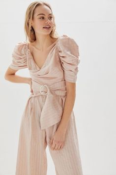 246481ae2156 Keepsake Heart + Soul Floral Strapless Jumpsuit. See more. C/meo Collective  Through You Belted Puff Sleeve Jumpsuit Modern Fashion Looks, Rompers Women