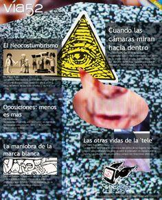 Nº2 de Vía52: Metatelevisión / Por @fragilstreetart  http://www.via52.com/archivos/numero2.php