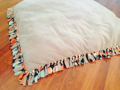 No Sew Floor Pillow | Floor pillows, Diy decoration and Craft