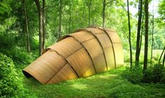 Ron Arad designed a delicate tea pavilion for Revolution Precrafted that, despite its seemingly simple prefabricated construction, boasts a striking sculptural form.