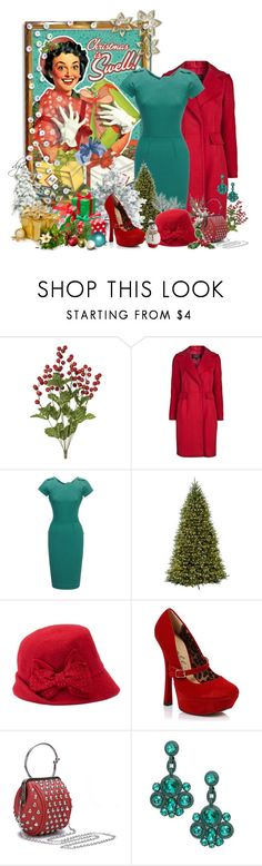 """Vintage Christmas shopping"" by dgia ❤ liked on Polyvore featuring Giambattista Valli, Roland Mouret, Betmar, Ellie, Kate Spade and vintage"