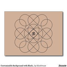Customizable Background with Black Infiniti Om Postcard