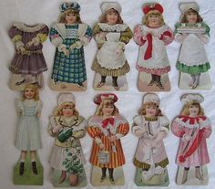 Advertising Paper Dolls, Clark's O.N.T. Spool Cotton Thread (04/01/2014)