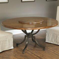 Metal table base.