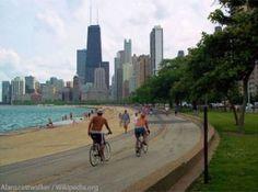 Chicago Bike Path #chicago #lakemichigan #bike #exercise
